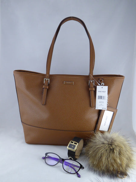 Nine West Ava Tote Bag Tobacco MM Leather