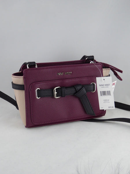 Nine west Clean Living Women Cranberry Black/ B Sling Bag