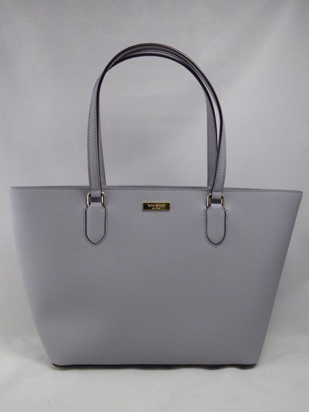 Kate Spade Laurel Way Small Dally BIG SMOKE grey Leather Tote BAG WKRU4094