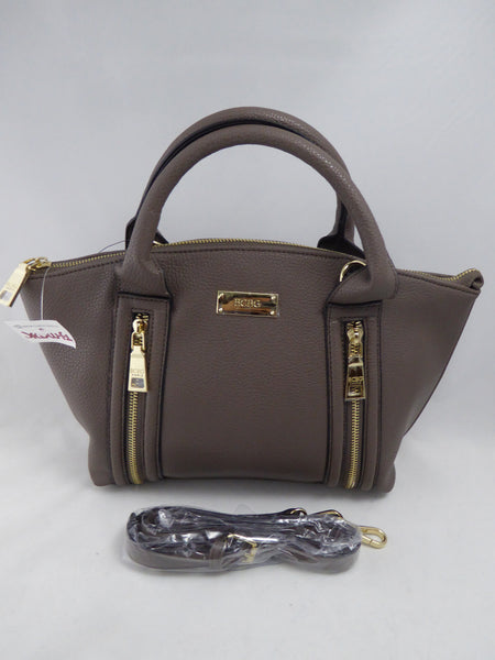 BCBG PARIS GREY SATCHEL CROSSBODY BAG