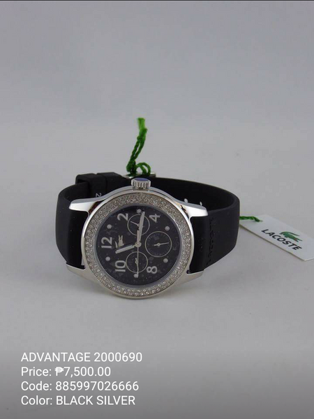 LACOSTE WATCH BLACK SILVER