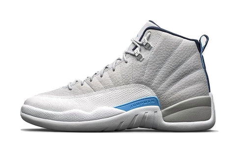 AIR JORDAN 12 - GREY / UNIVERSITY BLUE