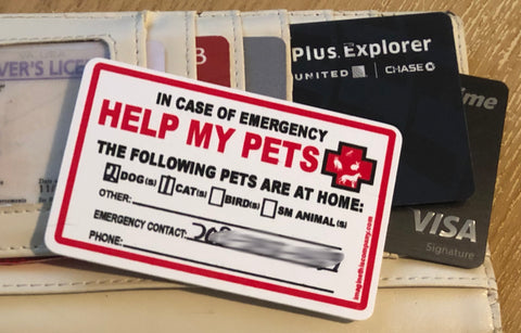 Help My Pets Wallet Cards