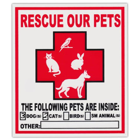 Rescue Window Stickers