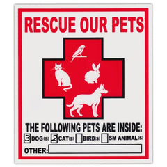 Pet Rescue Window Stickers