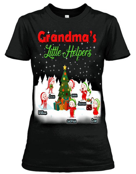 "Grandma's Little Helpers "" Christmas Special(Flat 70% off) Get your little elves T-shirt and more. Most GrandParents/Parents Buy 2-3"