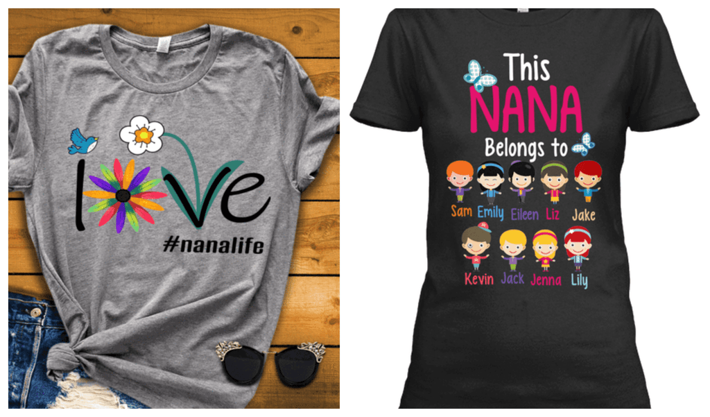"""2 Combo Pack Shirt(Love Nana Life And This Nana Belongs To..)""(Flat Shipping) For grandmothers"