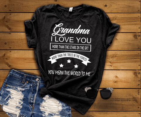 """ Grandma I LOVE YOU MORE THAN THE STARS IN THE SKY.... "" Flat Shipping(50% Off Today)"