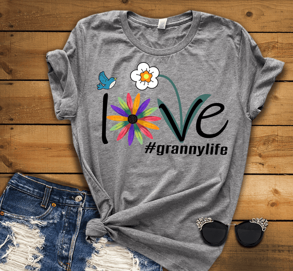 """Love Nana Life"". Personalize Your Nick. Mimi, Gigi, Grandma or Write Your Nick Name Below."