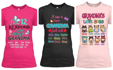 """3 Combo Pack Shirt For Grandma""(Flat Shipping)50% off for grandmothers"