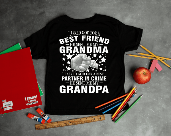 """I Asked God For A Best Friend...."" Custom Shirts"" KIDS T-SHIRT (50% OFF Today)"