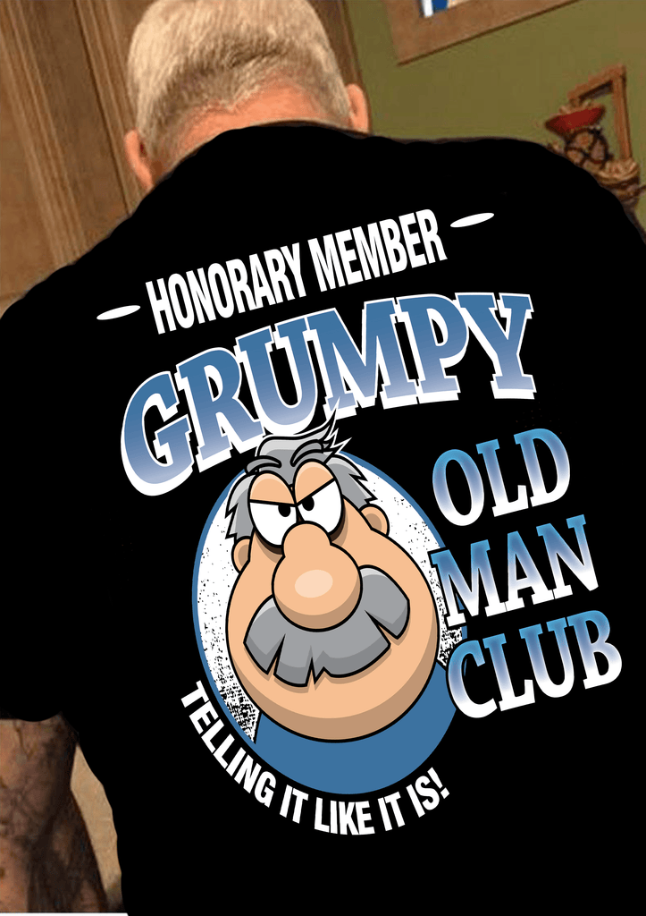 """OLD MAN CLUB"".Custom Tee n More Fathers and Grandfathers"