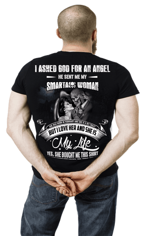 """I ASKED GOD FOR AN ANGEL HE SENT ME....""Custom Tee( 50%Off Today)."