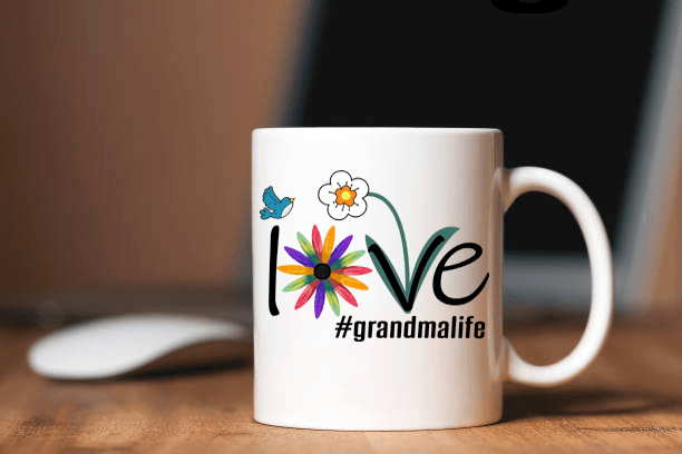 """Love Nana Life..."" Mug(flat shipping) Personalize Your Nick. Mimi, Gigi, Grandma or Write Your Nick Name Below."