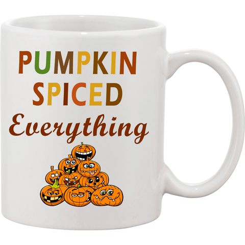 """PUMPKIN SPICED EVERYTHING"" MUG HALLOWEEN SPECIAL(FLAT SHIPPING)"