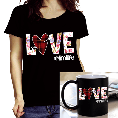 "Combo of ""Mimi Love Life..."" (Shirt + Mug) Flat Shipping"