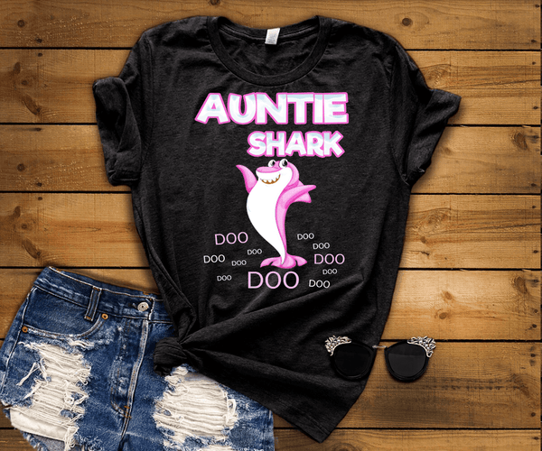 """PAPA SHARK DOO DOO...""(50% Off) Flat Shipping.Unisex T-shirt. Personalize for anyone. Flat Shipping"