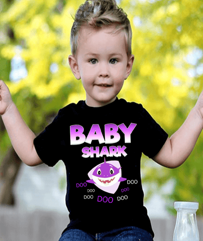 """BABY SHARK DOO DOO..."" NEW DESIGN SPECIAL FOR TODAY (KIDS T-SHIRT)"
