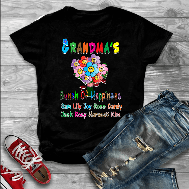 """Grandma's Bunch Of Happiness""- Custom Tee (Save 50% Today)"
