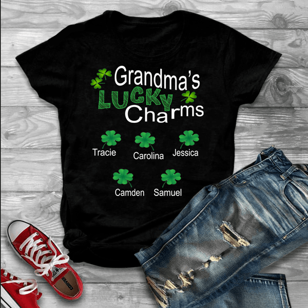 """Grandma's Lucky Charms""- Custom Tee (Save 50% Today)"