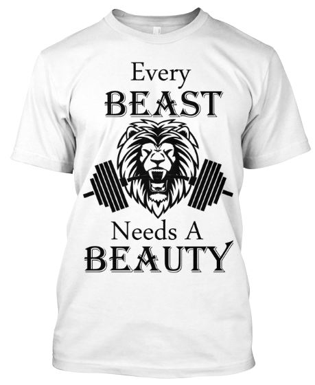 Beauty And The Beast Mode T Shirts For Couple On Summer Sale 50