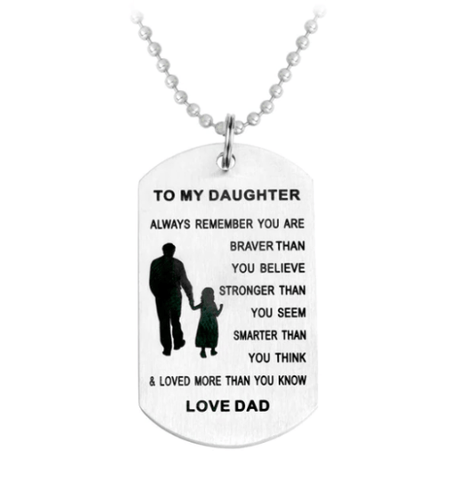 Dad To Daughter Necklace. 50% Off.