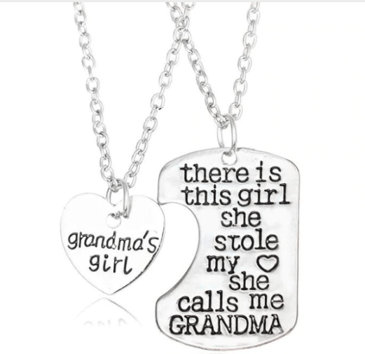 Grandma And GrandDaughter Heart Necklace 50% Off. Double necklace 100% exclusive