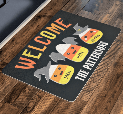 Family Name Fully Customize Doormat  ( Best price Deal) Halloween Special