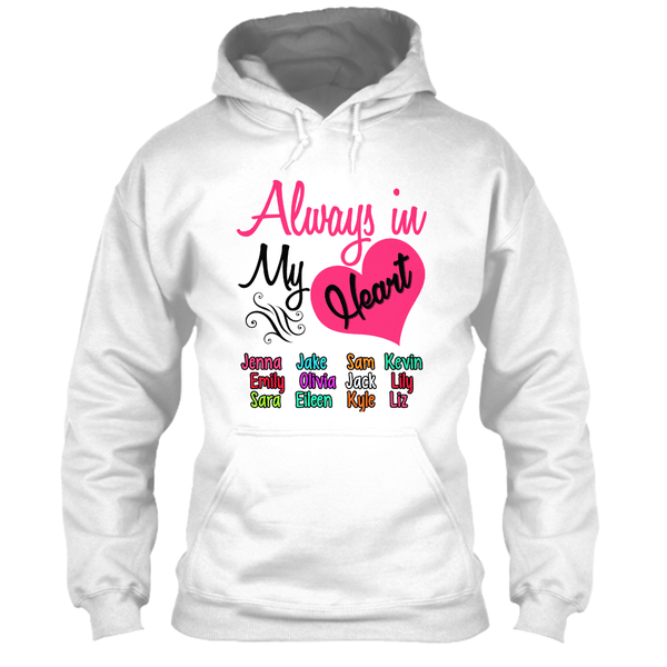 "Grandma - ""Always In My Heart - Custom Tee (Save 70% Today)"