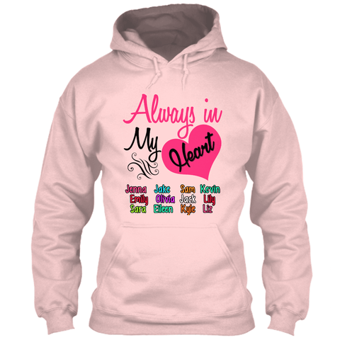 "Grandma - ""Always In My Heart"" - Pink Custom Tee (Save 70% Today)"