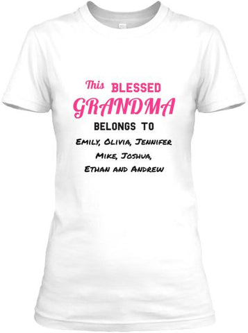 Grandma - Blessed Grandma / Great Grandma Custom Tee  ( 50% Off For Today). Most NaNa Order 2.