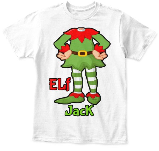 98a59a1e7 ... Grandma - Elf Suit Tee With Kid Name Christmas Special