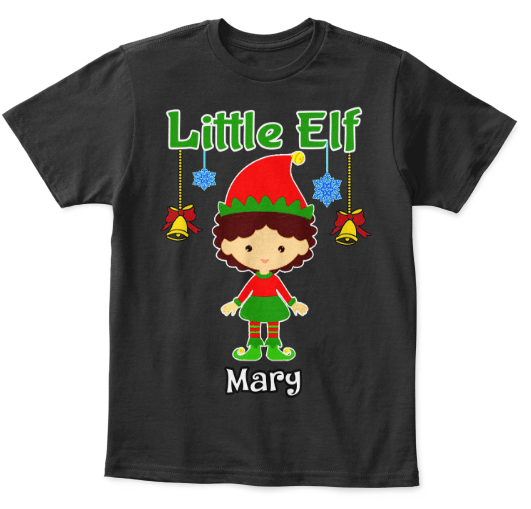 "Grandma - Elf Tee With Kid Name, Christmas Special Gift "" KIDS T-SHIRT"