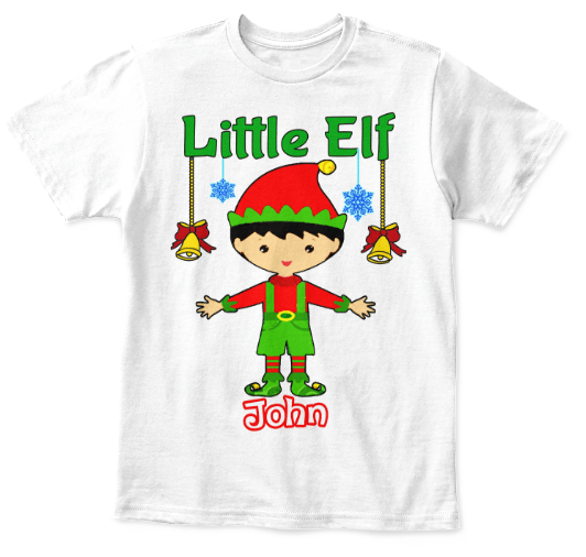 318d421d6 ... Grandma - Elf Tee With Kid Name, Christmas Special Gift