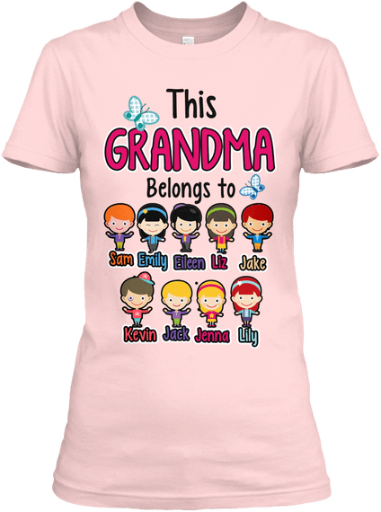 "Grandma - ""Grandma Belongs To..."" T-Shirt (70% OFF)"