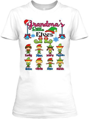 Grandma - Grandma's/Grandpa's Elves Christmas Special(Flat 70% Off) Get Your Little Elves T-shirt And More. Most GrandParents/Parents Buy 2-3