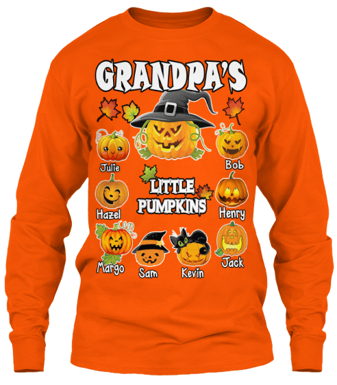 Grandma - Grandma's/ Grandpa's Little Pumpkins Halloween Special (Flat 70% Off) Long Sleeve And Hoodies