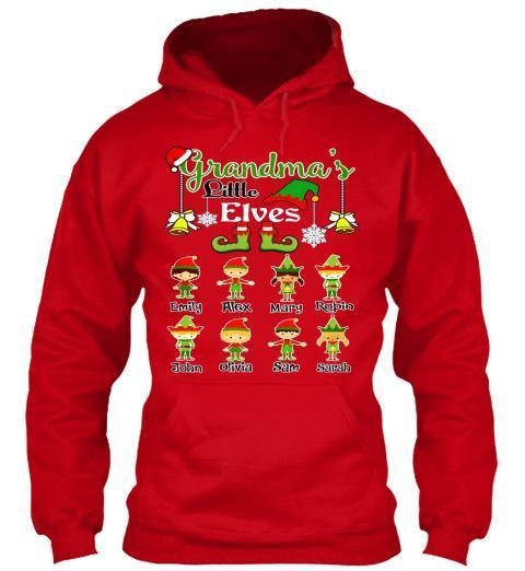 Grandma - Grandma's/Grandpa's/Mom's Elves Christmas Special(Flat 70% Off) Get Your Little Elves T-shirt In Exclusive Colors. Most GrandParents/Parents Buy 2-3