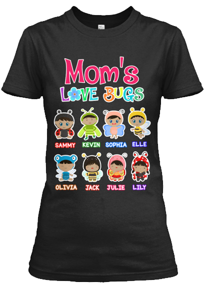 Grandma - Grandma's/Mom's Love Bugs (70% Off Today)Afro-American T-Shirt