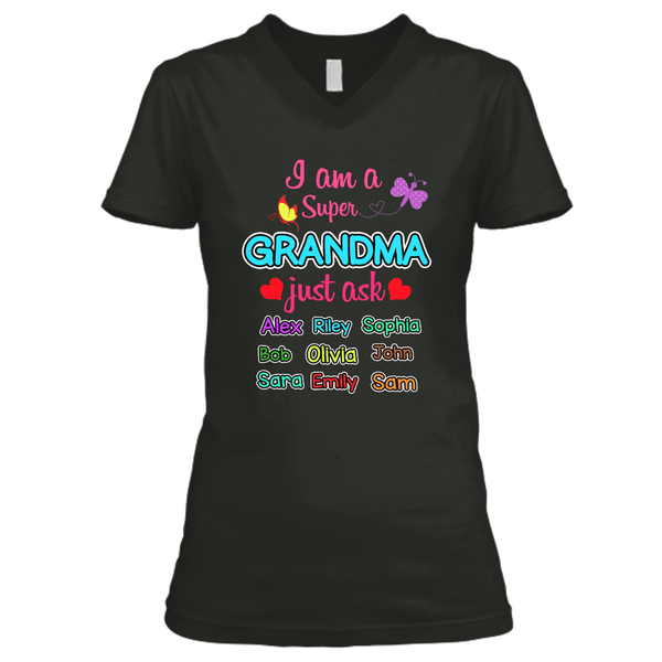 "Grandma - ""I Am A Super Grandma"" - Custom Tee (Save 70% Today)"