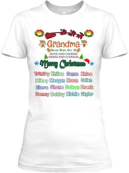 Grandma - Merry Christmas New Edition Kids Names Upto 40 (Most Grandmas Buy 2 Or More)