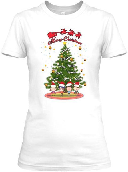 Grandma - Merry Christmas Shirt With Kids/Grandkids Names (Flat 70% Off) Exclusive On Store 'Tis The Season. Most GrandParents/Parents Buy 2-5