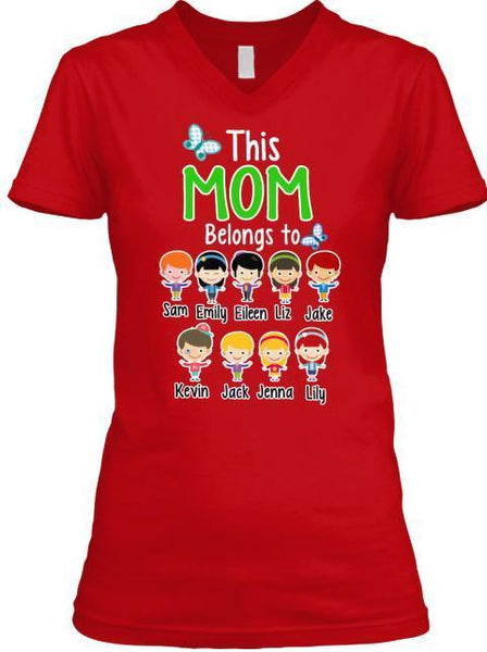 "Grandma - Mom Belongs To..."" T-Shirt And More Christmas Special Colors"