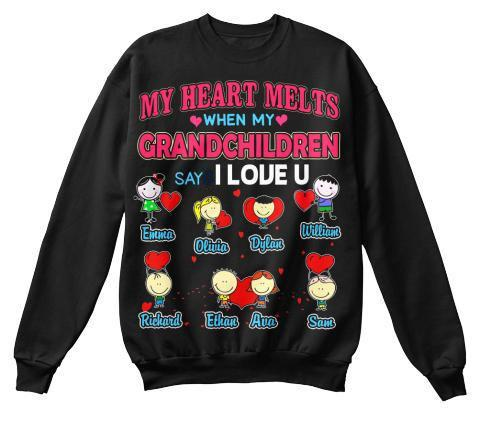 Grandma - My Heart Melts...... Valentine's Day Special Custom Tee And More For Grandparents (Most Grandmas Buy 2 Or More)