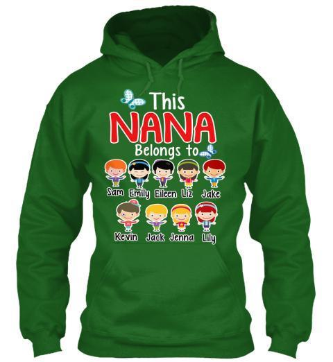 "Grandma - ""Nana/Grandma Belongs To..."" T-Shirt And More Christmas Special Colors"