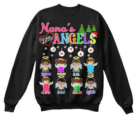 Grandma - Nana's Angels Christmas Special(Flat 70% Off) Get Your Little Angles T-shirt And More. Most NANA Buy 2-3
