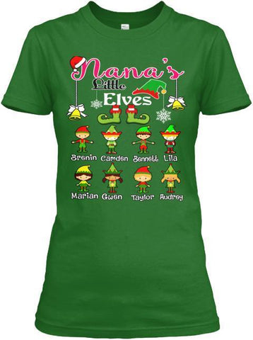 Grandma - Nana's Elves Christmas Special(Flat 70% Off) Get Your Little Elves T-shirt In Exclusive Colors. Most GrandParents/Parents Buy 2-3