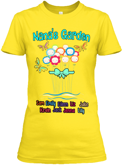 Grandma - NANA's Garden - Yellow (70% Off)