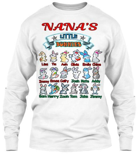 Grandma - Nana's Little Bunnies Holiday Season Special(Flat 70% Off) Get Your Little Cuties On Your T-shirt And More. Most GrandParents/Parents Buy 2-3