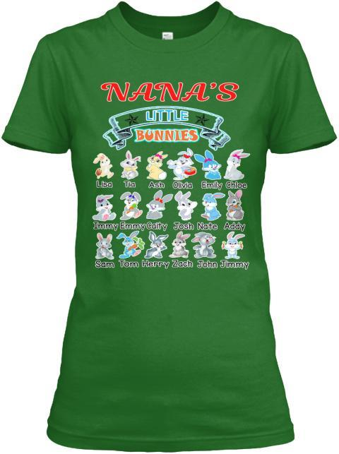 Grandma - Nana's Little Bunnies Holiday Season Special(Flat 70% Off) Get Your Little Cuties On Your T-shirt And More Seasonal Colors. Most GrandParents/Parents Buy 2-3